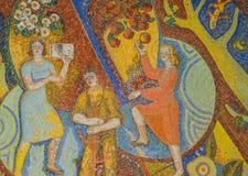 Art mosaic glass or seamless glass mosaic on the wall. Art mosaic glass or seamless glass mosaic on the wall, glass mosaic background Royalty Free Stock Image