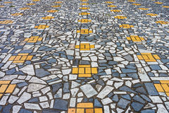 The art of mosaic pavement Royalty Free Stock Photos