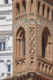 Art Mudejar Héritage espagnol de point de repère d'architecture Tour Teru Photographie stock libre de droits