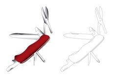 Art multi de vecteur de couteau de but Illustration Libre de Droits