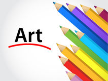 Art Multicolored pencils Royalty Free Stock Photos