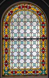 Stained glass window for interior design stock photo