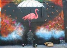 Art mural à Williamsburg est à Brooklyn Image stock