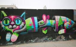 Art mural à Williamsburg est à Brooklyn Photo stock