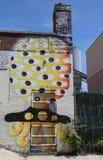 Art mural à Williamsburg est à Brooklyn Photographie stock libre de droits