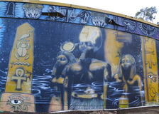Art mural au parc de Balboa à San Diego photo stock