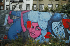 Art mural chez Houston Avenue dans Soho Photo stock
