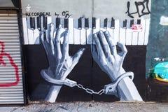 Art mural dans Bushwick, Brooklyn, NYC photos stock