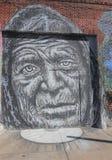 Art mural dans la section d'Astoria du Queens Images stock