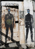 Art mural dans Ushuaia, Argentine Photos libres de droits