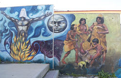 Art mural dans Ushuaia, Argentine Photographie stock