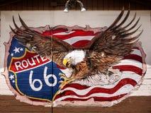 Art mural de rue, graffiti, drapeau américain, Route 66, Eagle photo libre de droits