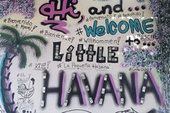 Art Mural Little Havana,Miami, Florida, United States Stock Images