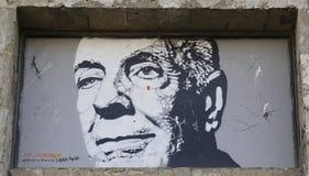 Art mural par Jef Aerosol dans Ushuaia, Argentine Images stock