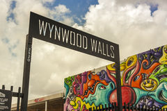 Art murals at Wynwood creative and arts district in Miami Royalty Free Stock Photos