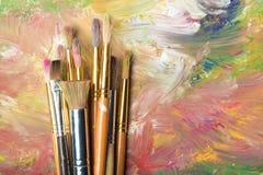 Art museum. Art artist paintbrush exhibition palette paint royalty free stock photos