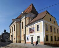 Art museum and church in Olomouc Stock Photo