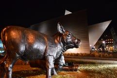 Art Museum Denver nachts Stockbild