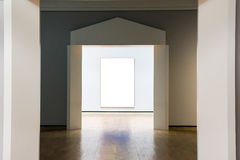 Art Museum Frame Blue Wall Ornate Minimal Design White Isolated Stock Image