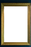 Art Museum Frame Vintage Ornate Painting Picture Blank Clipping. Path Isolated Beautiful Stock Image