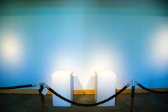 Art Museum Gallery Displays Empty Stock Photos