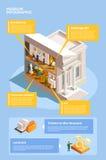 Art Museum Infographic Poster Photo libre de droits
