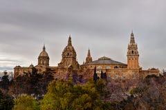 Art Museum nacional de Cataluña, Barcelona, España Fotografía de archivo libre de regalías