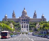 Art Museum nacional de Cataluña en Barcelona imágenes de archivo libres de regalías