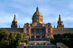 Art Museum nazionale della Catalogna a Barcellona, Spagna Fotografia Stock Libera da Diritti