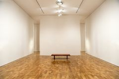 Art Museum, pareti in bianco della galleria, fondo fotografia stock libera da diritti
