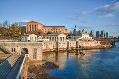 Art Museum with Philadelphia skyline Stock Photography