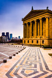 The Art Museum and skyline in Philadelphia, Pennsylvania. The Art Museum and skyline in Philadelphia, Pennsylvania Royalty Free Stock Photography