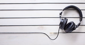 Art music studio background with dj  headphones Stock Images