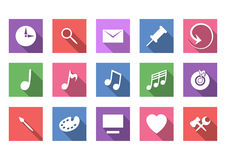 Art and musical flat icon set Stock Images