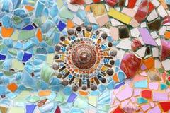 Art. muur van het achtergrond het kleurrijke glasmozaïek. Royalty-vrije Stock Foto