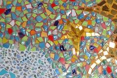 Art. muur van het achtergrond het kleurrijke glasmozaïek. Royalty-vrije Stock Afbeelding