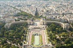Art nach Paris vom Ausflug d'Eiffel Stockfotografie
