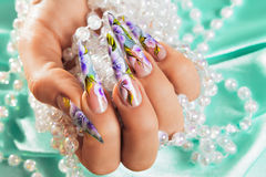 Art nail design. Stock Images