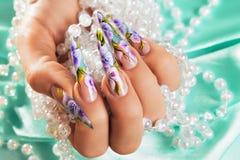 Art nail design. Stock Images