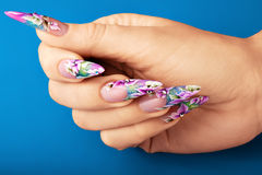 Art nail design. Stock Photos