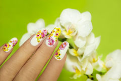 Art nail design. Royalty Free Stock Photos