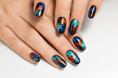 Art nails desingn. Royalty Free Stock Photography