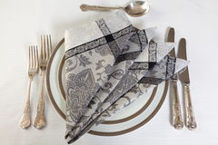 Art of napkin folding Royalty Free Stock Image
