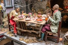 The art of Neapolitan nativity of S. Gregorio Armeno. Naples, Italy December 2016 - The art of Neapolitan nativity of S. Gregorio Armeno, S. Gregorio Armeno is a Royalty Free Stock Image