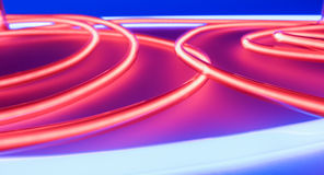 Art neon lighting light. Red neons background. Royalty Free Stock Photography