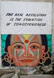 Art neuf d'affiche/rue d'âge à un centre de hippie photo libre de droits