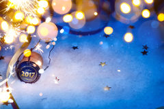 Art 2017 New year party background. Art Christmas and 2017 New year party background Royalty Free Stock Photos