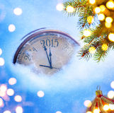 Art 2015 new years eve. Art 2015 christmas and new years eve Stock Photos