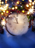 Art New Years midnight Royalty Free Stock Image