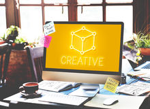 Art Notion Scheme Thought Vision Visual Graphic Concept. Business Creative Technology Networking Concept Stock Photo